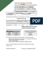 CERTIFICADO DE NUMERACION PREDIAL Maribel Sucasaca Chambi123