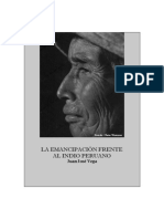 Juan José Vega - La emancipación frente al indio peruano