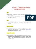 MODELO DE REFERENCIAS SEGUN NORMAS APA