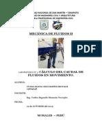 lab2_calculo_del_cudal_fluidos II