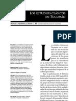 Los estudios clásicos en Tucumán - Blanca A. Quiñónez y María C. Ale