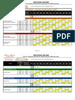 Pentawise Training schedule