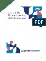 MANUAL PROC. ADMINISTRATIVOS 2019 - Versão Final atualizada em 19_11_2019