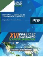 Historia de la Ensenanza de la Geografica en Republica Dominicana - Bolivar Troncoso Morales