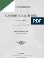 Albert-Houtin-La-Controverse-de-L'Apostolicité-des-Eglises-de-France-Paris-Alphonse-Picard-1903
