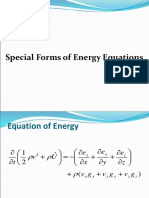 Special Forms of Energy Equations