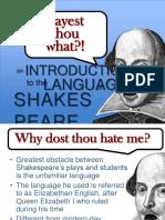 Intro to Shakespeare Language