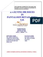 Pantaloon Evolving Hr Issues in Pantaloon Retail India Ltd. With Case Study