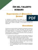 1. GESTIÒN DEL TALENTO HUMANO REQUISICION DE PERSONAL