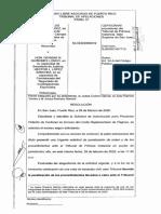 Orden del Tribunal de Apelaciones