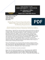 U.S. Department of Justice press release on Arthur Brun indictment