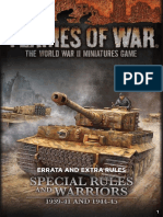Flames of War - FoW - 4.0 - Special Rules & Warriors Errata
