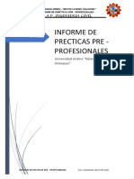 informe final de practicas pre profesionales