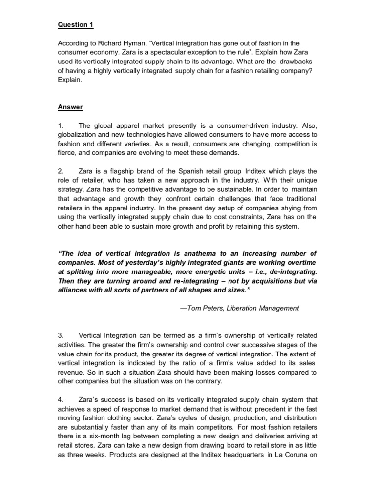 Case study writers zara pdf