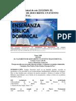 Enseñanza dominical de este 22