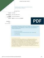 Avaliação Parcial Objetiva - Módulo 2