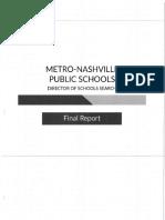 Metro Nashville Public Schools director report