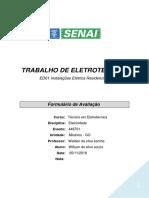 TRABALHO DE ELETROTÉCNICA