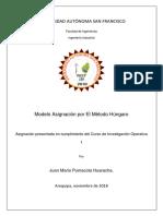 JUAN MARIO-MODELO ASIGNACIÓN METODO HÚNGARO -