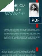 BIOGRAFIA DE PRUDENCIA AYALA