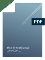 TALLER PROBABILIDAD CONDICIONAL Y TEOREMA DE  BAYES
