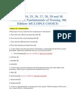Chapter 24, 25, 26, 27, 28, 29 and 30 Potter et al.