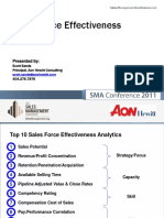Sales Force Effectiveness Analytics