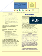 First Grade 12.10 News