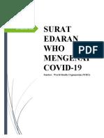 EDARAN WHO TENTANG COVID-19