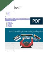 codeigniter-login