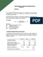 PALANCA DE OPERACIONES Y EL RIESGO DE OPERACIONES O DE NEGOCIO