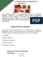 3.2 Normas y criterios para la selección de cerámicos