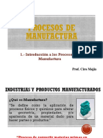 Introducción a la Manufactura 20182 UE