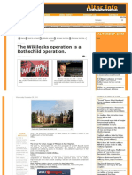 462. The Wikileaks Operation is a Rothschilds Operation