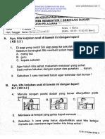 Soal Ulangan Kelas 1 Tema 1 - Diriku K13.pdf