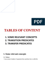 Semantics Presentation on Transition and Transfer Predicates