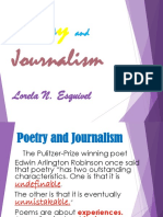 Poetry and Journalism