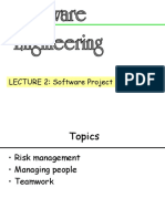 Lecture 2 - Software Project Management