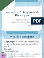 Synonyms, Antonyms, Homonyms Powerpoint