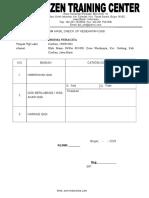 Form Pemeriksaan Kesehatan Gigi 2020