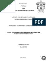 PROCEDIMIENTO DE FABRICACION DE SUELAS