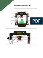 Partes de la impresora 3D