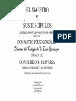 El Maestro y Sus Discípulos (Federico Olivares). Fernando Abaunza
