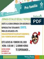 INVITACION PROFAMILIA- 2020