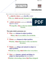 Relative Clauses With or Without