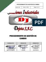 PROCEDIMIENTO DE GESTIÓN DE CAMBIO(personal,instalaciones,procesos tecnologicos)