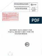 75 KVA Data sheet