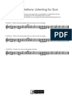 Worksheet Articulation for Slurs