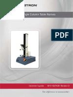 3340 Single Column Table Frames Operator Guide