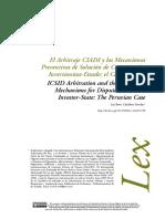 Arbitraje CIADI y Otros casos
